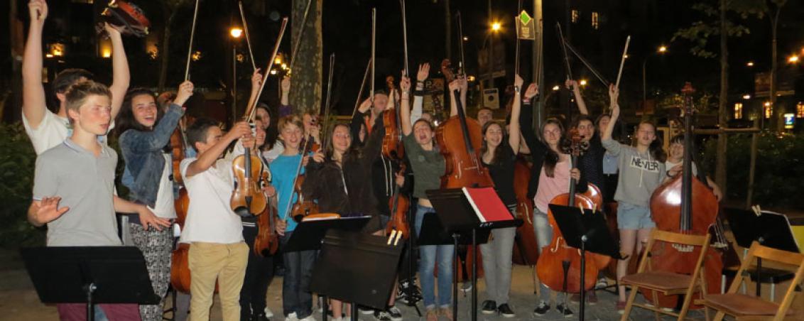 Après une représentation dans les rues de Barcelone, 2014.